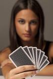 Gambler woman Royalty Free Stock Photography