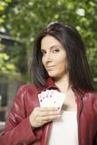 Gambler woman Royalty Free Stock Photography