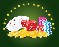 Gambling. Illustration which can be used for casino and gambling Royalty Free Stock Image