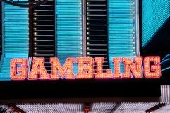 Gambling. Neon lights of Fremont Street Las Vegas Stock Photography