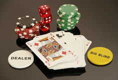 Gambling. Poker in the casino Royalty Free Stock Image