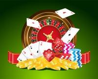 Gambling. Illustration with colorful gambling elements Royalty Free Stock Photos