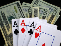Gambling. Pictures of gambling scenes Royalty Free Stock Photos