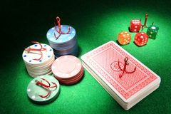 Gambling Addiction Royalty Free Stock Photos