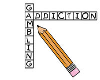 Gambling addiction Stock Image