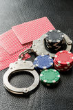 Gambling addiction Royalty Free Stock Photo