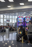 Gambling at the airport in Las Vegas Royalty Free Stock Images