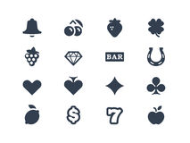 Gambling And Slot Machine Icons Royalty Free Stock Image