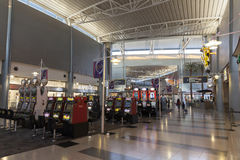 A Gambling area of McCarran Airport in Las Vegas, NV on July 06, Royalty Free Stock Photos