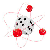 Gambling atom Royalty Free Stock Images