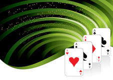 Gambling background. With casino elements Stock Image