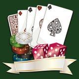 Gambling background Royalty Free Stock Image