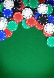 Gambling background. Casino gambling chips background with copy space Royalty Free Stock Photography