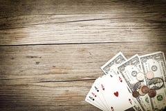 Gambling background Royalty Free Stock Photos