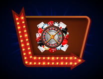 Gambling background with casino element Stock Images