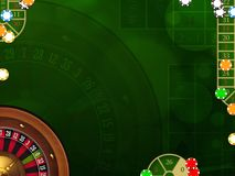 Gambling background with casino elements Stock Images