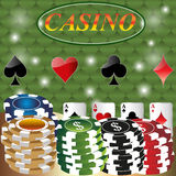 Gambling background with casino elements. Royalty Free Stock Image