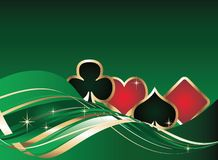 Gambling background with poker elements. vector Stock Photo