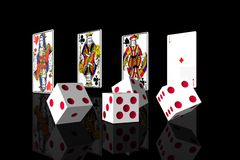 Gambling in black background. Royalty Free Stock Image