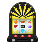 Gambling on black play machine object Stock Photography