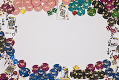 Gambling - Border - Add Your Text stock photography