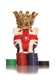 Gambling on Britains future piggy bank. Cutout Stock Images