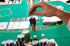 Gambling or car Royalty Free Stock Photo