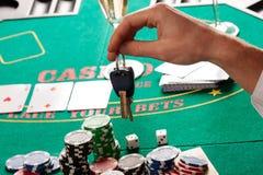 Gambling or car Royalty Free Stock Photo