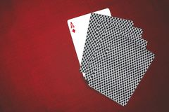 Gambling and card combinations in high card poker royalty free stock image