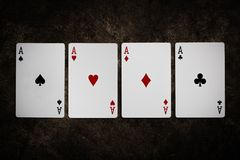 Gambling card. Gambling card on cement background royalty free stock photos