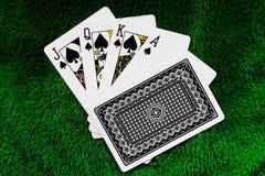Gambling card. stock image