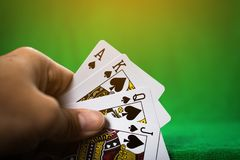 Gambling card game. royalty free stock image