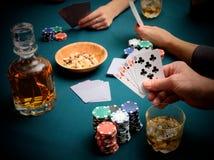 Gambling at the card table Royalty Free Stock Photo