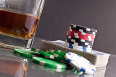 Gambling With Cards Royalty Free Stock Photography
