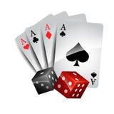 Gambling cards Royalty Free Stock Photo