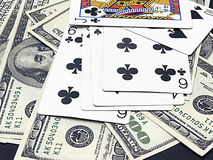 Gambling cards Royalty Free Stock Photos