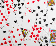 Gambling cards background Royalty Free Stock Photos