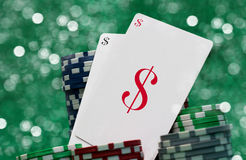 Gambling cards, casino concept Royalty Free Stock Photos