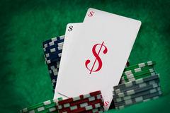 Gambling cards, casino concept Royalty Free Stock Photos