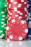 Gambling casino chips Stock Photo