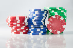 Gambling casino chips Stock Image