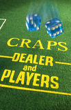 Gambling - Casino - Craps royalty free stock photo