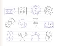 Gambling and casino Icons Royalty Free Stock Photo