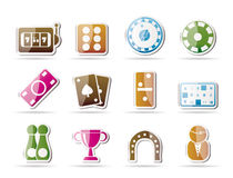 Gambling and casino Icons Royalty Free Stock Images