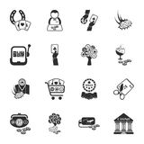 Gambling, casino 16 icons universal set for web and mobile. Flat Vector Illustration