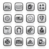 Gambling and Casino icons Stock Photography