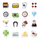 Gambling and Casino icons Royalty Free Stock Photography