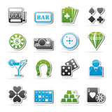 Gambling and Casino icons Stock Images