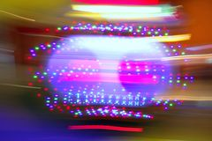 Gambling casino motion blur colorful lights Royalty Free Stock Photo