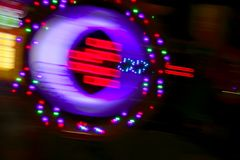Gambling casino motion blur colorful lights Stock Photos